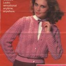 A LusterSheen Classic Cardigan Leaflet C. 1062 Coats & Clarks Crochet Pattern