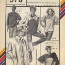 Stretch & Sew 378 Yoked Cardigan and Pullover Pattern (Womens & Mens)  - Uncut