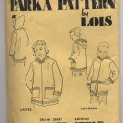 Alaskan Parka Pattern by Lois - Summer Style - Child Size 6 Chest 24 - Uncut