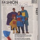 McCall's Fashion Accessories 7437 Poncho In A Pouch - Uncut