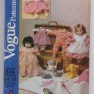 Vogue Wardrobe For Baby Doll Size Sm and Lg Pattern 524 - Uncut