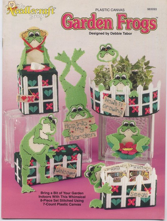 Plastic Canvas Garden Frogs Patterns - The Needlecraft Shop 983093