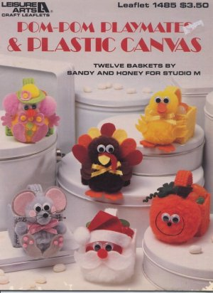 Pom-pom Playmates & Plastic Canvas Leaflet 1485 Leisure Arts