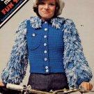 Columbia Minerva Fun Shags 4 Jackets & 1 Vest to Crochet - Leaflet 2581