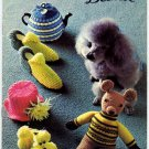 Bazaar Novelties and Gifts by Beehive to Knit and Crochet Patterns - Patons Book No. 115