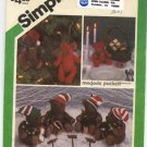 Simplicity 6569 Small and Large Bears Patterns - Uncut