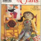 Simplicity Crafts 9293 Scarecrow, Pumpkin, Sunflower Pillow and Wallhanging Pattern - Uncut