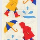 Mrs Grossmans Child in Raincoat Stickers #9C Yellow/Red
