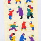 Mrs Grossmans People in Winter Coats Stickers #9D