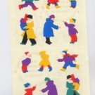 Mrs Grossmans People in Winter Coats Stickers #9E