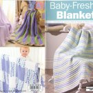 Baby-Fresh Blankets - Crochet , Leisure Arts Little Books 75143