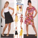 Simplicity 3833 Misses&#39; 1960&#39;s Retro Petite Dress in two Lengths - 6-14 - Uncut