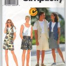 Simplicity 7568 Misses', Men's and Teens' Vest and Shorts Pattern - Size AA - XS,S,M - Uncut