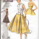 Vogue Vintage Model Pattern 2561 Misses' Top, Belt & Dress Pattern Size 6,8,10 - Uncut
