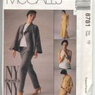 McCall's 8781 Misses' Unlined Jacket, Bias Top Pants & Bias Skirt Pattern Size 10 - Uncut