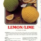 Annie's Attic Luscious Fruit Potholders Lemon/Lime Crochet Pattern 346