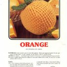 Annie&#39;s Attic Luscious Fruit Potholders Orange Crochet Pattern 347