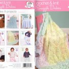 Crochet & Knit Snuggle Babies - 9 Patterns - Coats & Clark - Art. J22, Book 0004