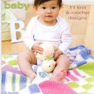 Designer Sport Baby - 11 Knit & Crochet Patterns - Coats & Clark - Art. J23, Book 0001