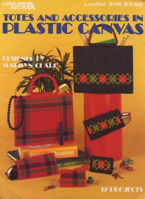 totes and accessories in plastic canvas   leisure arts