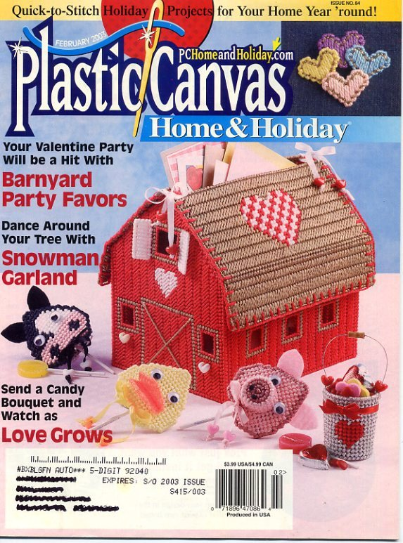 Plastic Canvas Home & Holiday Magazine - February 2003 - Vol 15 No 1 Issue No 84