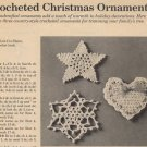 Crocheted Christmas Ornaments - Pattern only from a magazine