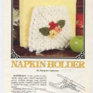 Annie's Attic Milk Glass Crochet II Napkin Holder Crochet Pattern 87Q22