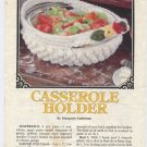 Annie's Attic Milk Glass Crochet II Casserole Holder Crochet Pattern 87Q20