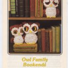 Annie's Attic Owl Family Bookends Crochet Pattern 87B66