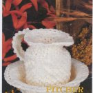 Annie's Attic Milk Glass Crochet Pitcher & Bowl Crochet Pattern 87Q04