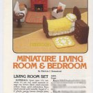 Annie's Attic Miniature Living Room & Bedroom Crochet Pattern 87G30