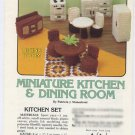 Annie's Attic Miniature Kitchen & Dining Room Crochet Pattern 87G31