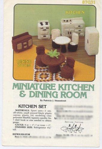 Annie's Attic Miniature Kitchen & Dining Room Crochet Pattern 87G31