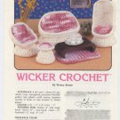 Annie's Attic Wicker Crochet Pattern 87C18