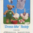 Annie's Attic 'Dress-Me' Teddy Crochet Pattern 87B56