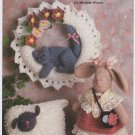 Annie's Attic Lamb, Bunny & Kitty Crochet Pattern 8B043