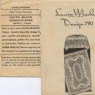 Laura Wheeler Design 790 Crocheted Filet Crochet Cloth Vintage Pattern