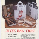 Plastic Canvas Tote Bag Trio - Annies Attic 87P11 Patterns