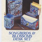 Plastic Canvas Songbirds & Blossoms Desk Set - Annies Attic 87P13 Patternss