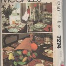 McCall's 7274 Holiday Table Settings Pattern - uncut