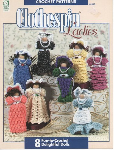 Clothespin Ladies Crochet Patterns - House of White Birches 101038