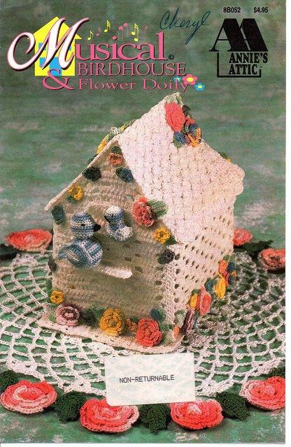Annie's Attic Musical Birdhouse & Flower Doily Crochet Pattern 8B052