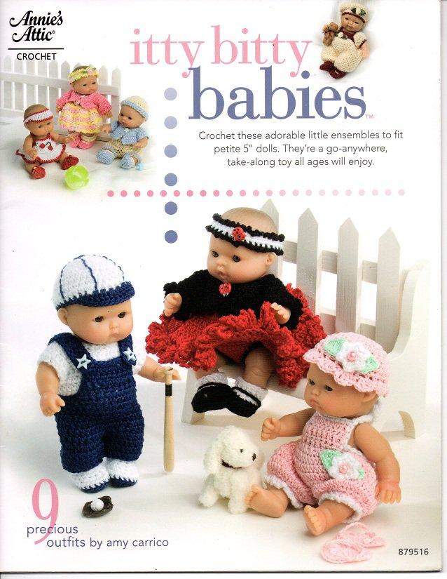 Annie's Attic Itty Bitty Babies Crochet Patterns 879516