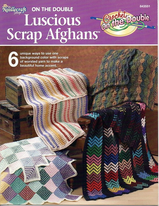 On The Double Luscious Scrap Afghans - The Needlecraft Shop 843551