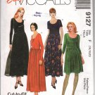 Easy McCall's 9127 Misses' Dress in Two Lengths Pattern Size F (16, 18, 20) - Uncut