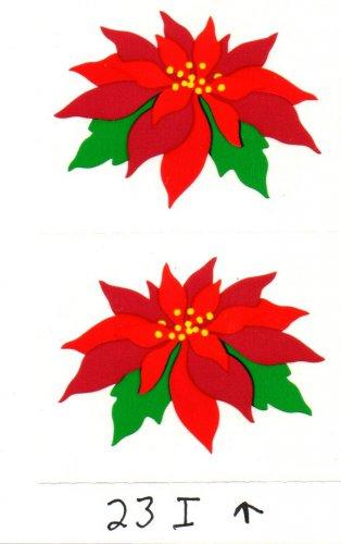 Mrs Grossman's Christmas Poinsettia Stickers #23I