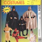Boys Super-Hero Costumes Pattern McCall's 8334 Size 4, 6 Mostly Uncut
