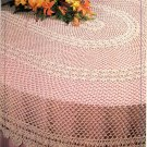 Oval Banquet Tablecloth - Annie's Attic Crochet Leaflet 8B011