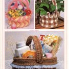 Annie's Attic Springtime Baskets Crochet Pattern 8B012