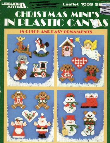 Christmas Mini's in Plastic Canvas - Leisure Arts Leaflet 1059